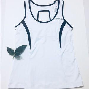 Fila Athletic Black White Workout Stretch Tank Top